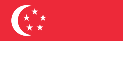 Flag of Singapore, courtesy of Wikimedia Commons.