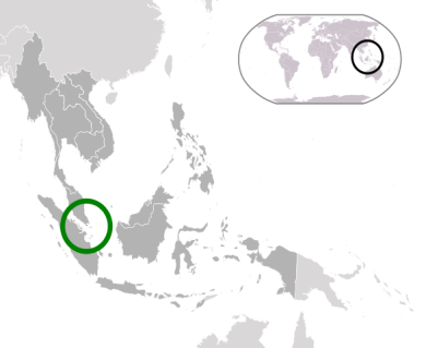 Location of Singapore, courtesy of Wikimedia Commons