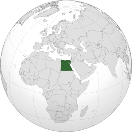 Location of Egypt, courtesy of Wikimedia commons.