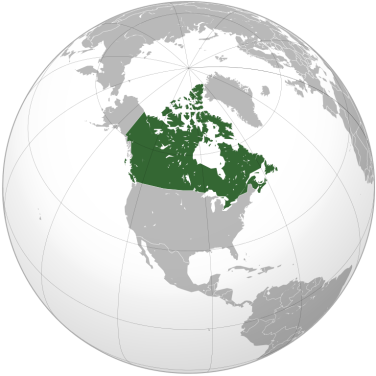 Map of Canada, courtesy of Wikimedia Commons.