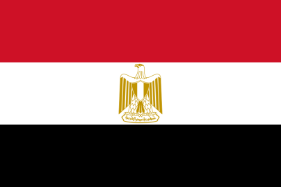 Flag of Egypt, courtesy of Wikimedia commons.