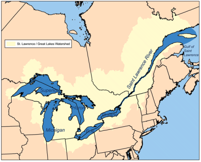 Map of the Saint Lawrence River, courtesy of Wikimedia Commons