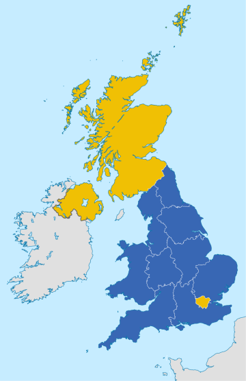 EU Referendum Results by Region, courtesy of Wikimedia Commons