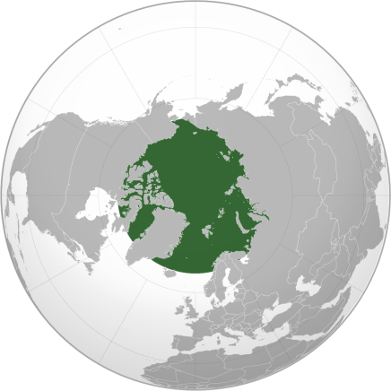 Map of Arctic waters, courtesy of Wikimedia Commons.